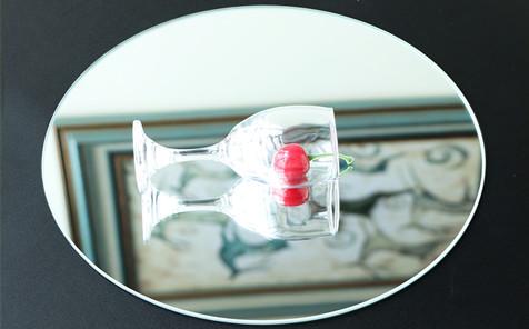 5mm 6mm bevel edge round silver mirror for bathroom