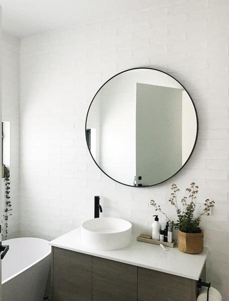 framed mirror for bathroom