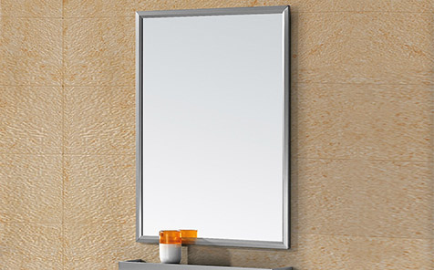 Waterproof nano paint rectangle stainless steel frame mirror for makeup