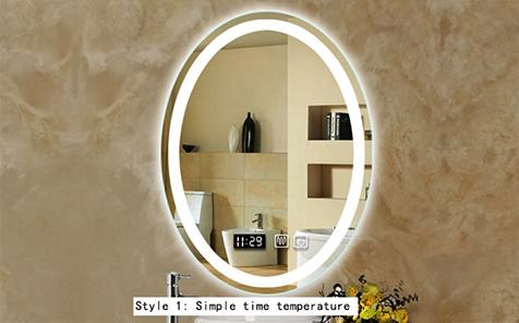 4mm 5mm led anti-fog vanity round shaped  bathroom mirror
