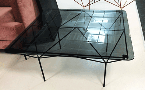 6mm rectangle tinted tempered glass for table top