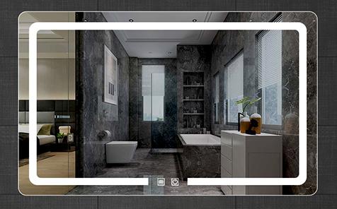 4mm 5mm led anti-fog vanity rectangle shaped bathroom mirror