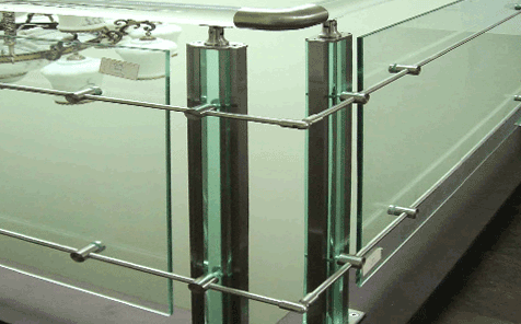 12mm clear toughened building safety glass for fence