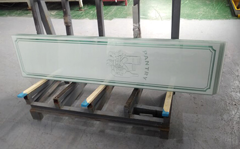 4mm tempered frosted silk screen printing glass for pantry door