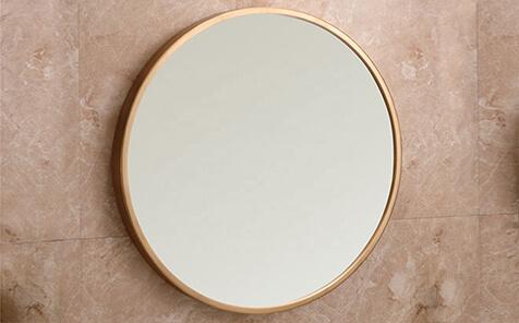 Decorative aluminum round frame silver mirror for bathroom
