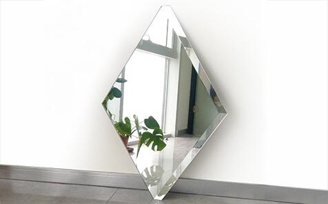 Frameless rectangle polished flat edge mirror