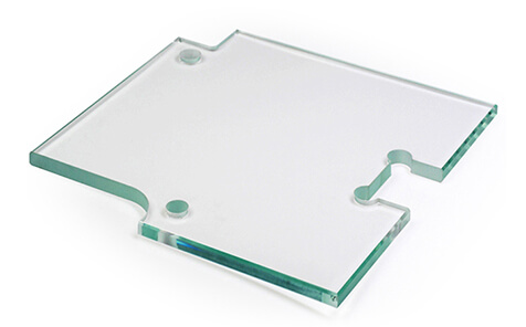 Irregular shape safety clear tempered float glass