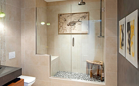 Waterproof safety 10mm clear tempered glass for shower room door