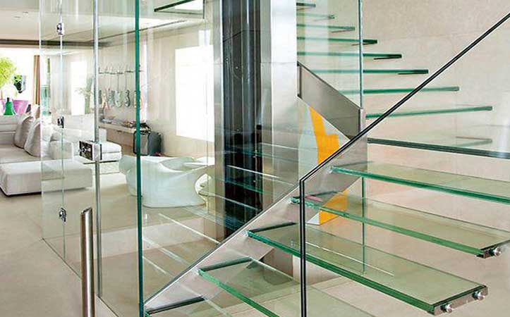 10mm 12mm clear tempered laminated glass for guard bar