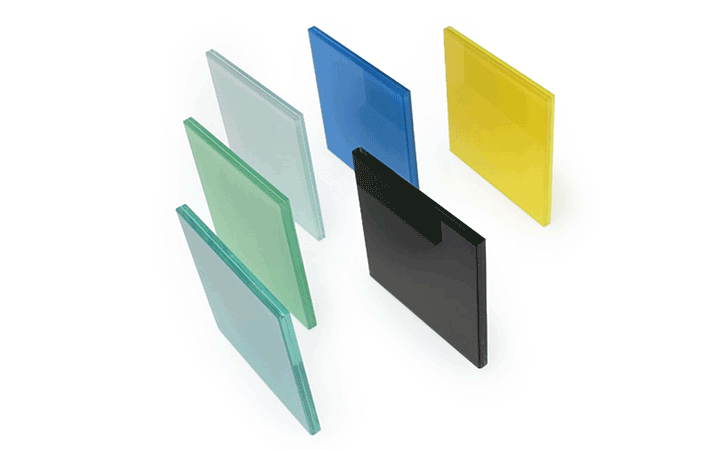 6.38mm colored film laminated glass for window
