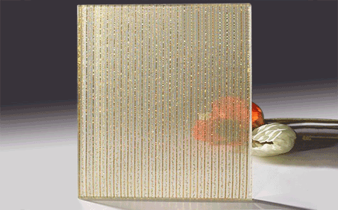 6+6mm cloth laminated glass for decorative wall