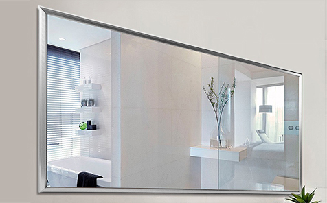 Decorative  silver-colored aluminum frame silver mirror for bathroom