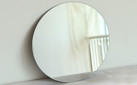 6mm frameless round silver mirror for bathroom