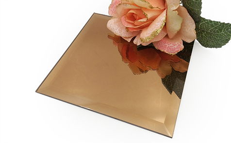 Customized size rectangle frameless bronze mirror for bathroom