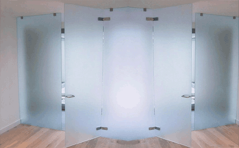 8mm tempered frosted glass for bathroom partition