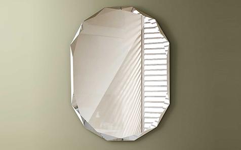 diamond edge silver mirror for bathroom