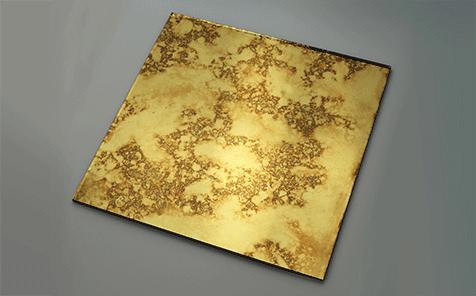 Rectangular golden colored Antique mirror for living room decoration