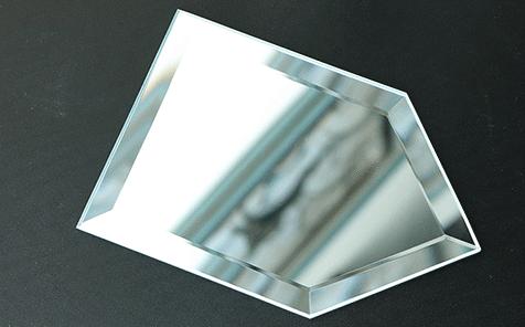 Frameless pentagon bevel edge silver mirror for living room