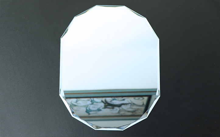 diamond edge silver mirror for bathroom