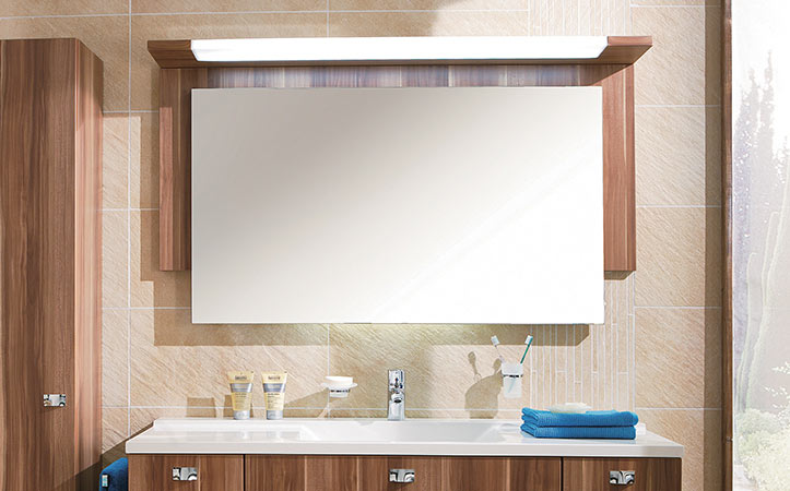 Frameless rectangle aluminum mirror for bathroom