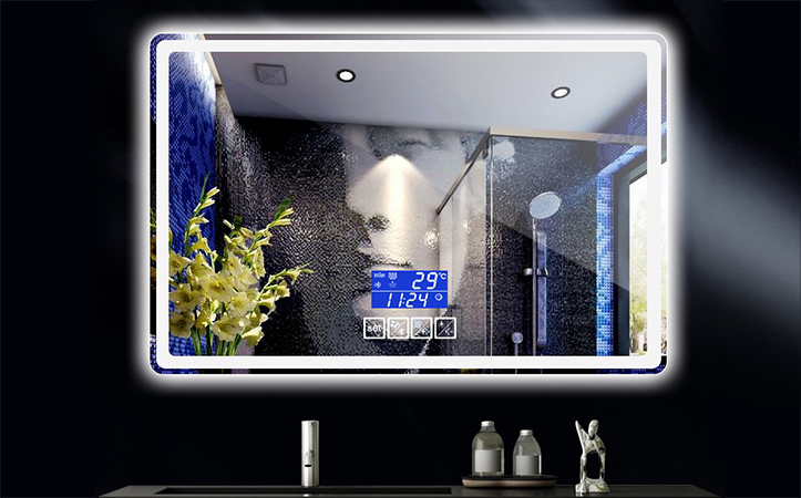 Rectangular led touch switch mirrors for bathrooms