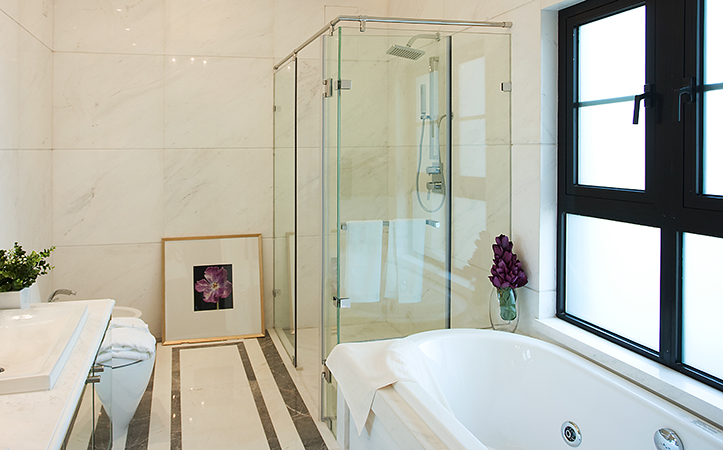 8mm clear tempered glass for shower room door