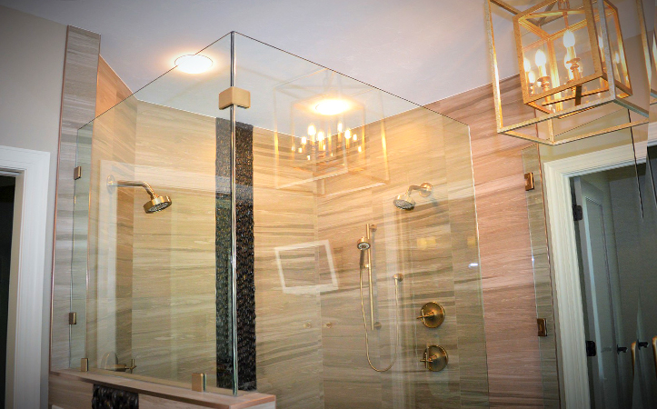8mm clear frameless tempered glass partition