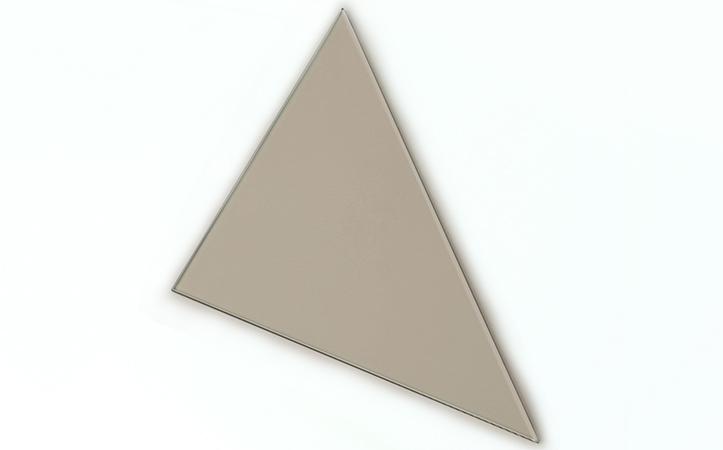 Triangle euro bronze tempered glass bathroom shelf