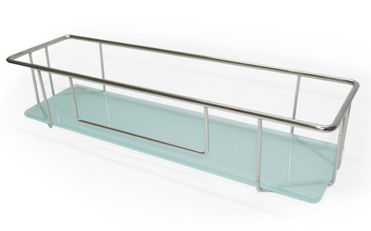 Tempered silk screen printing glass bathroom shelf