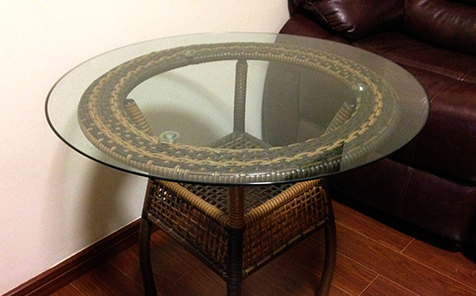 8mm round tempered glass table top