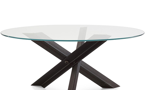 """42 """"48"""" diameter round tempered table top"""