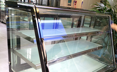 Frameless tempered curved glass for fresh-keeping cabinet
