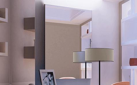 Custom size frameless rectangle aluminum mirror for bathroom