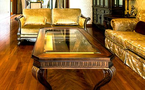 Rectangular bevel edge clear tempered tabletop glass