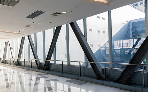 Customized size safety transparent tempered glass for curtain wall