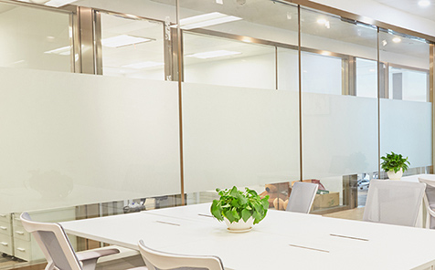 custom size stripe tempered frosted glass for office partition