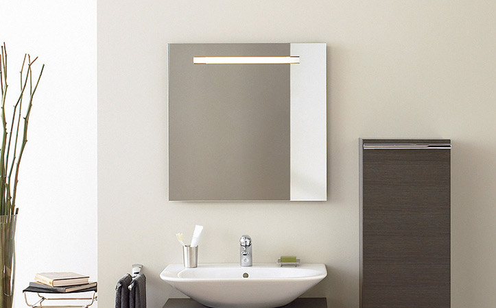 Custom size frameless rectangle aluminum mirror for bathroom