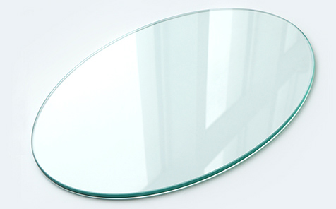 Oval edge grinding tempered glass table top