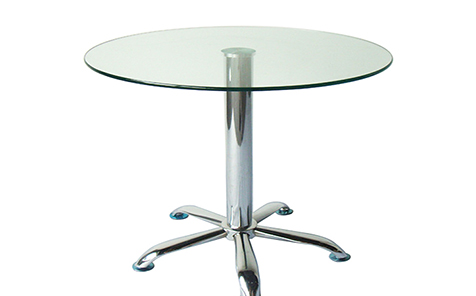 "42 ""48"" diameter round tempered table top"