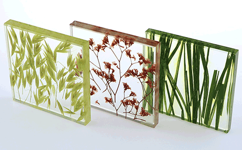 Custom size decorative laminated glass panels