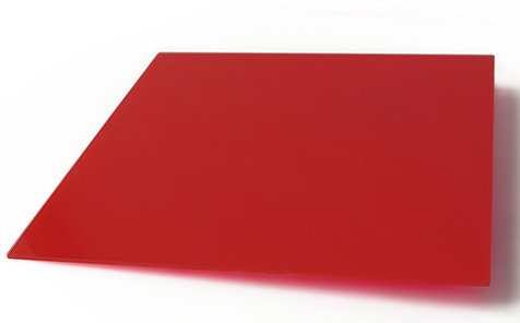 Custom size red tempered silk screen printing glass