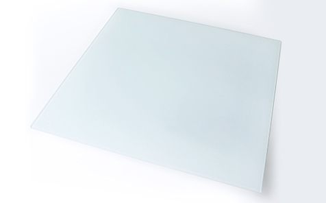 6mm tempered frosted silk screen printing glass for table top