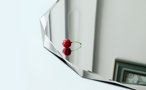 Diamond edge shatterproof mirror for decorative