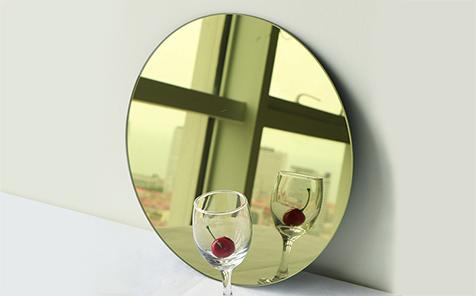 Colour round edging shatterproof mirror