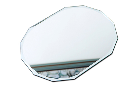 Diamond edge shatterproof mirror for decorative