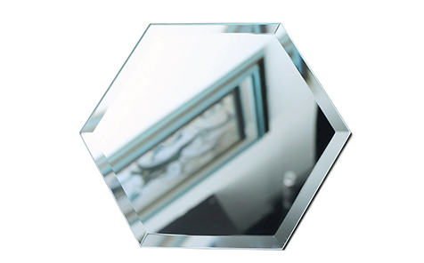 Hexagon bevel safety mirror shatterproof mirror