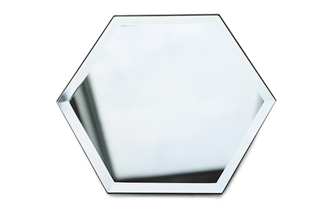 Hexagon bevel safety mirror shatterproof mirror