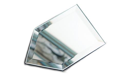Pentagon shape shatterproof mirror safety mirror
