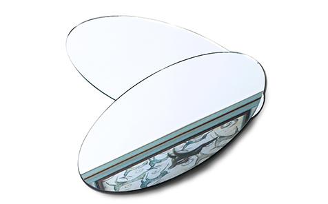 Oval edging shatterproof mirror safety mirror