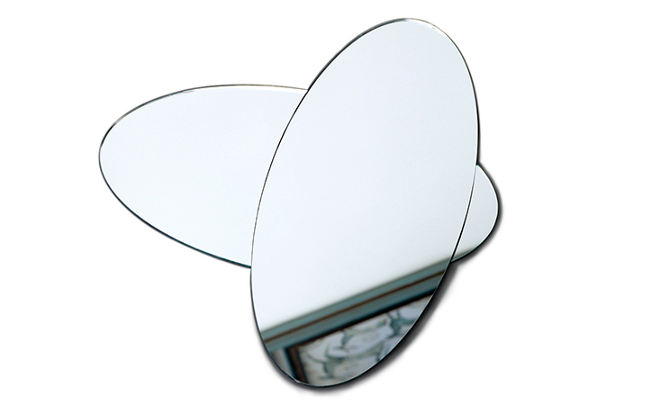 Oval edging shatterproof mirror safety mirror